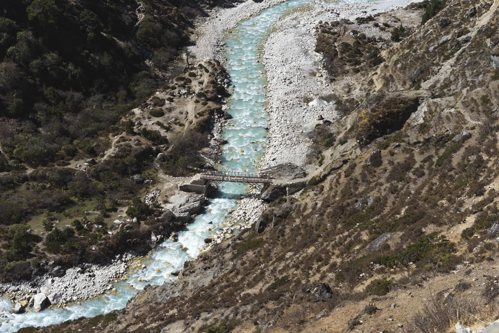 You have to cross this bridge to get up to Ama Dablam Base Camp