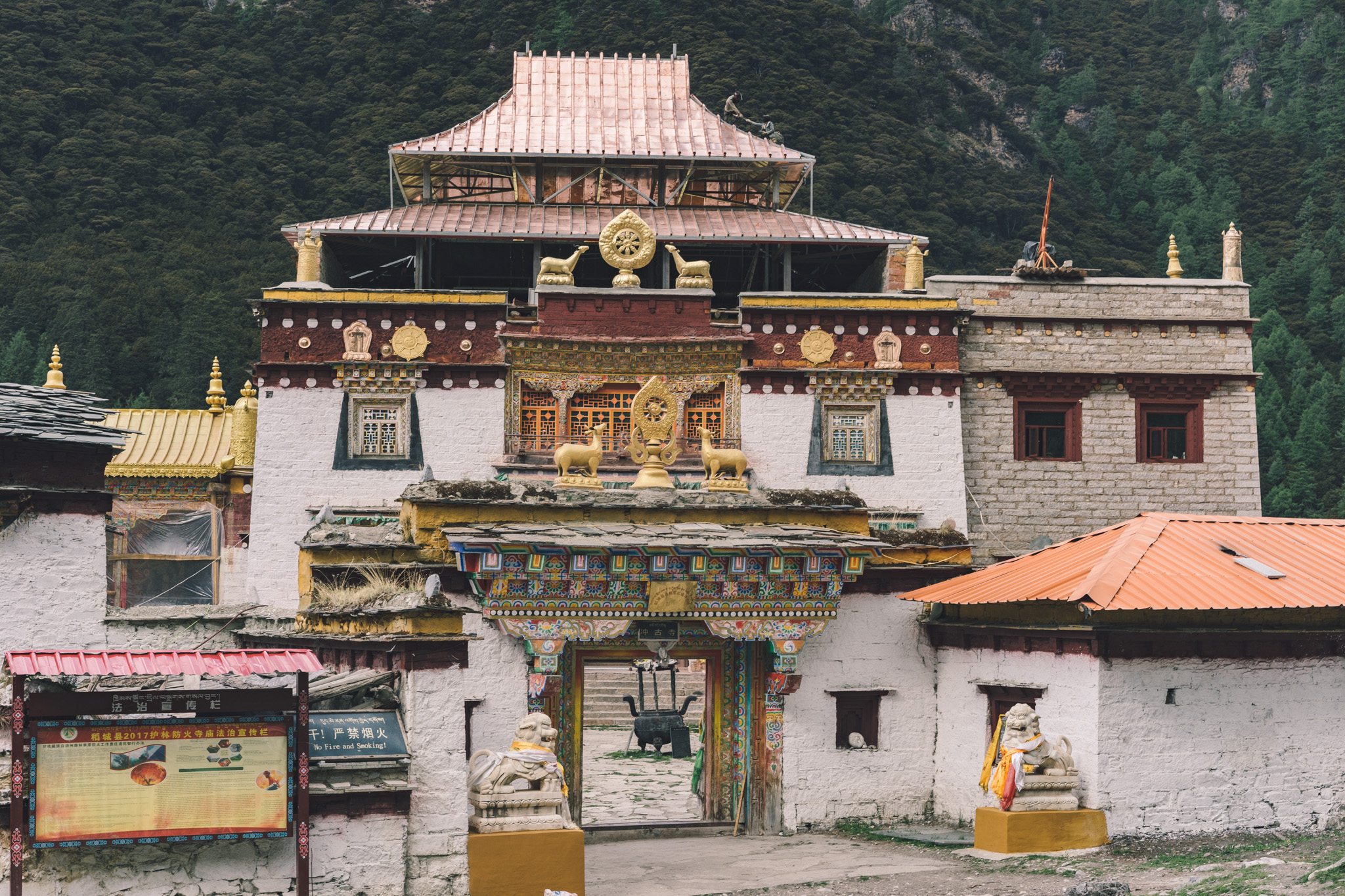 Chonggu Monastery in the Yading Nature Reserve