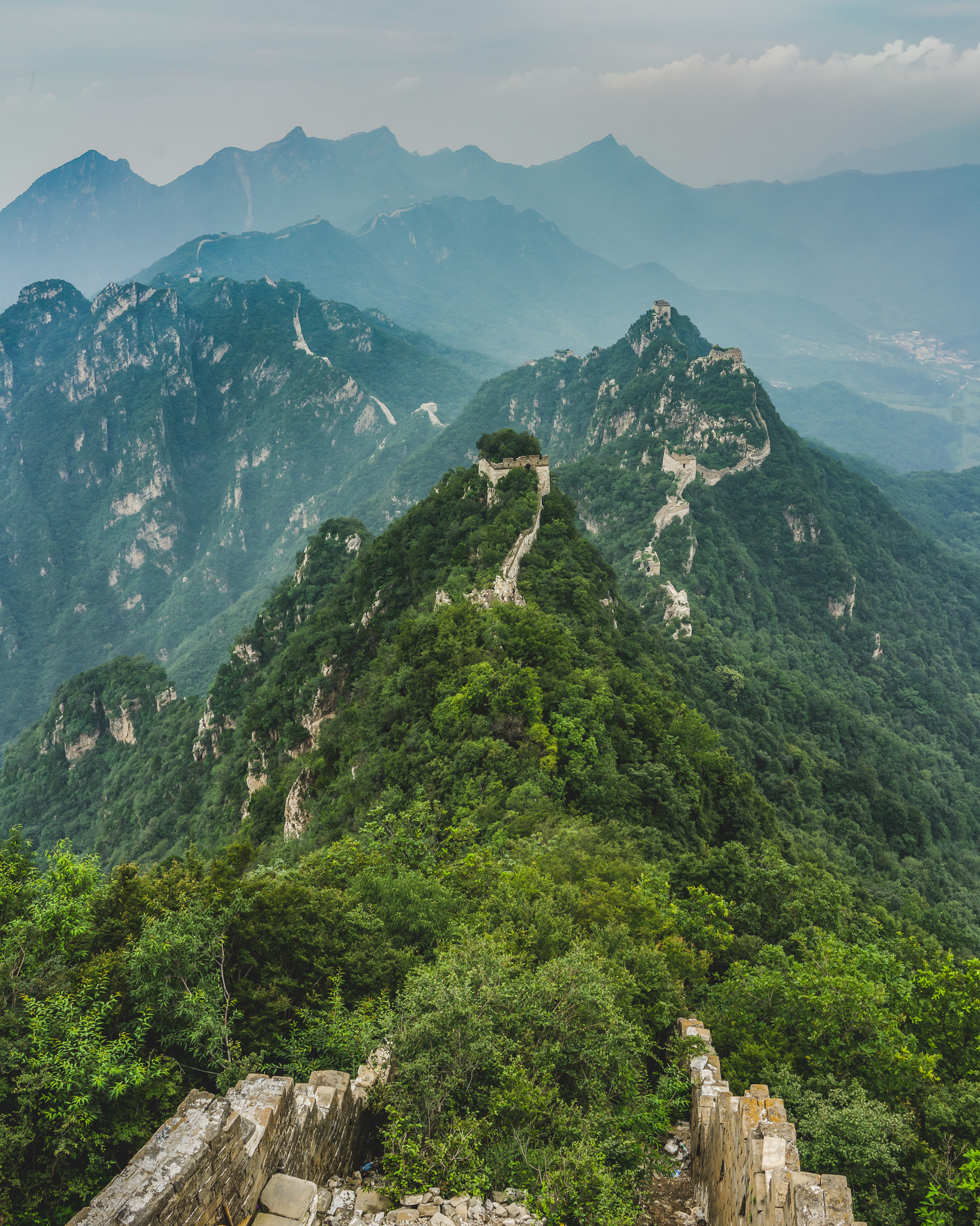 The unrestored Great Wall of China