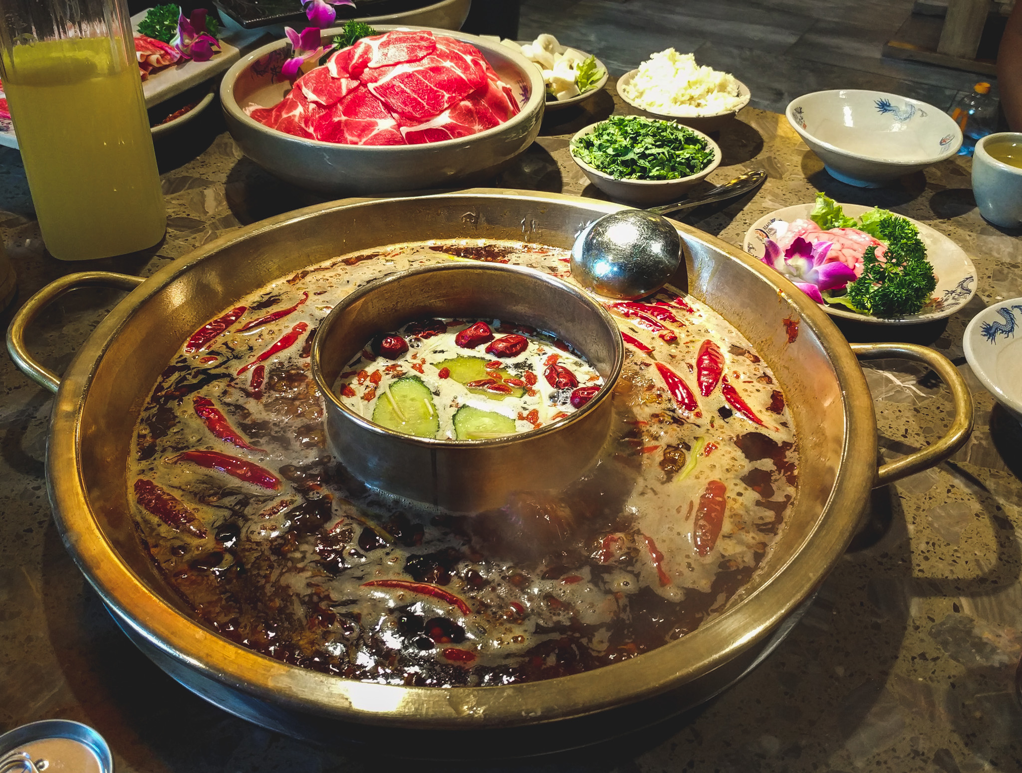 Delicious hot pot in Chengdu