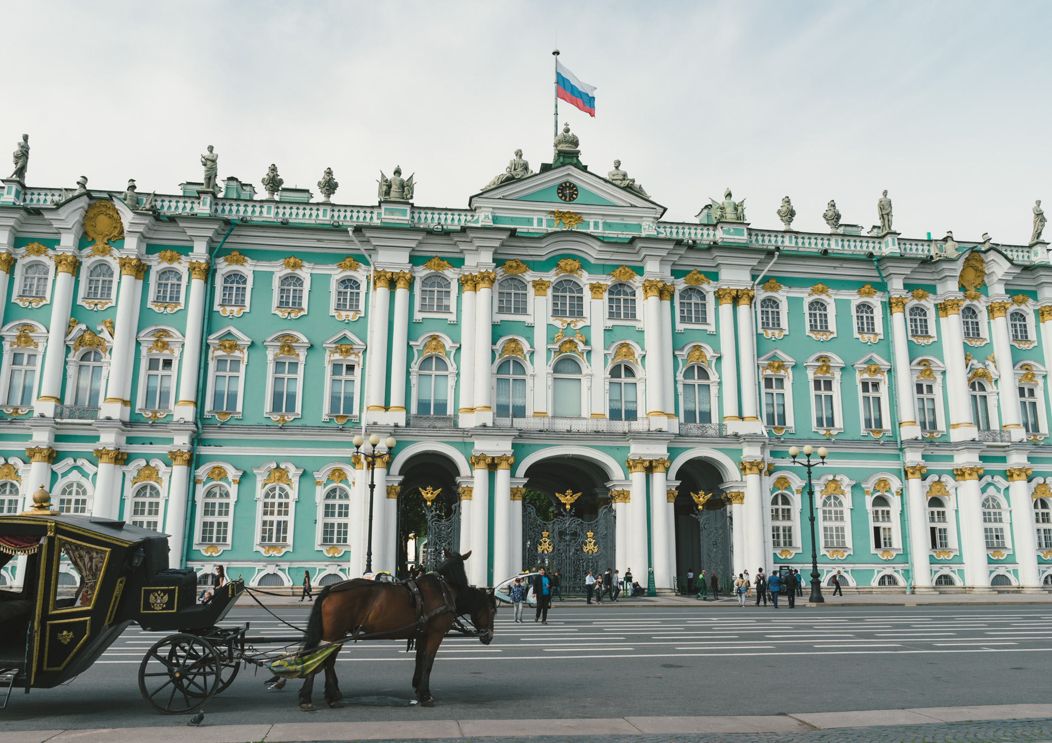 Entrance to the Hermitage Museum in Saint Petersburg