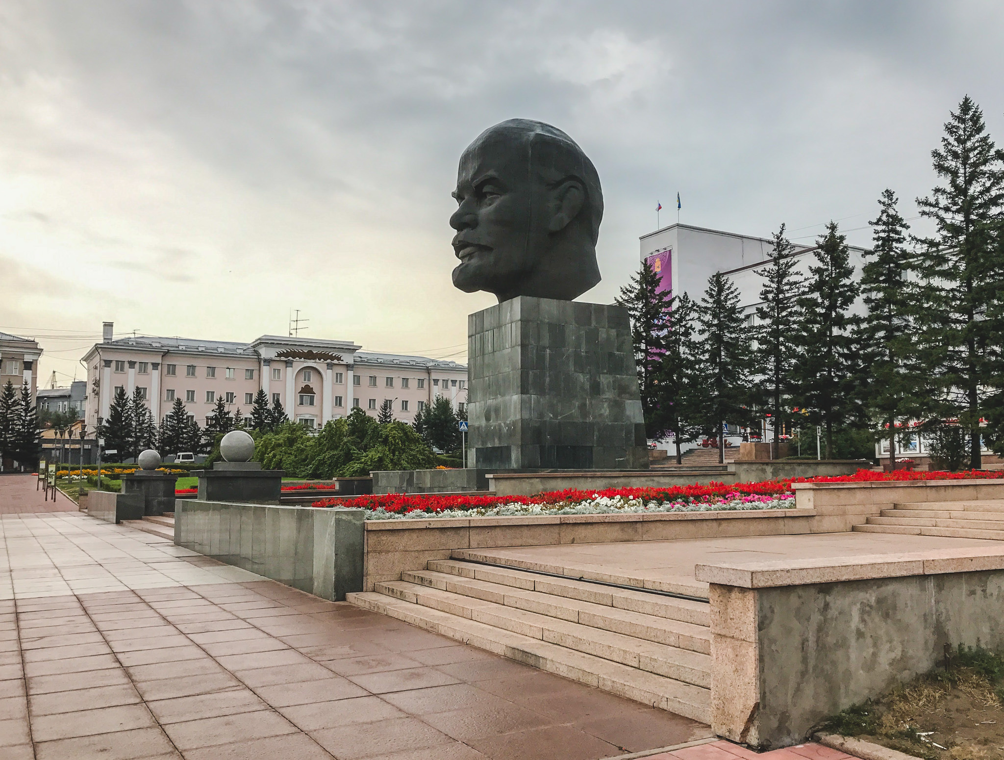 World's largest Lenin head in Ulan-Ude