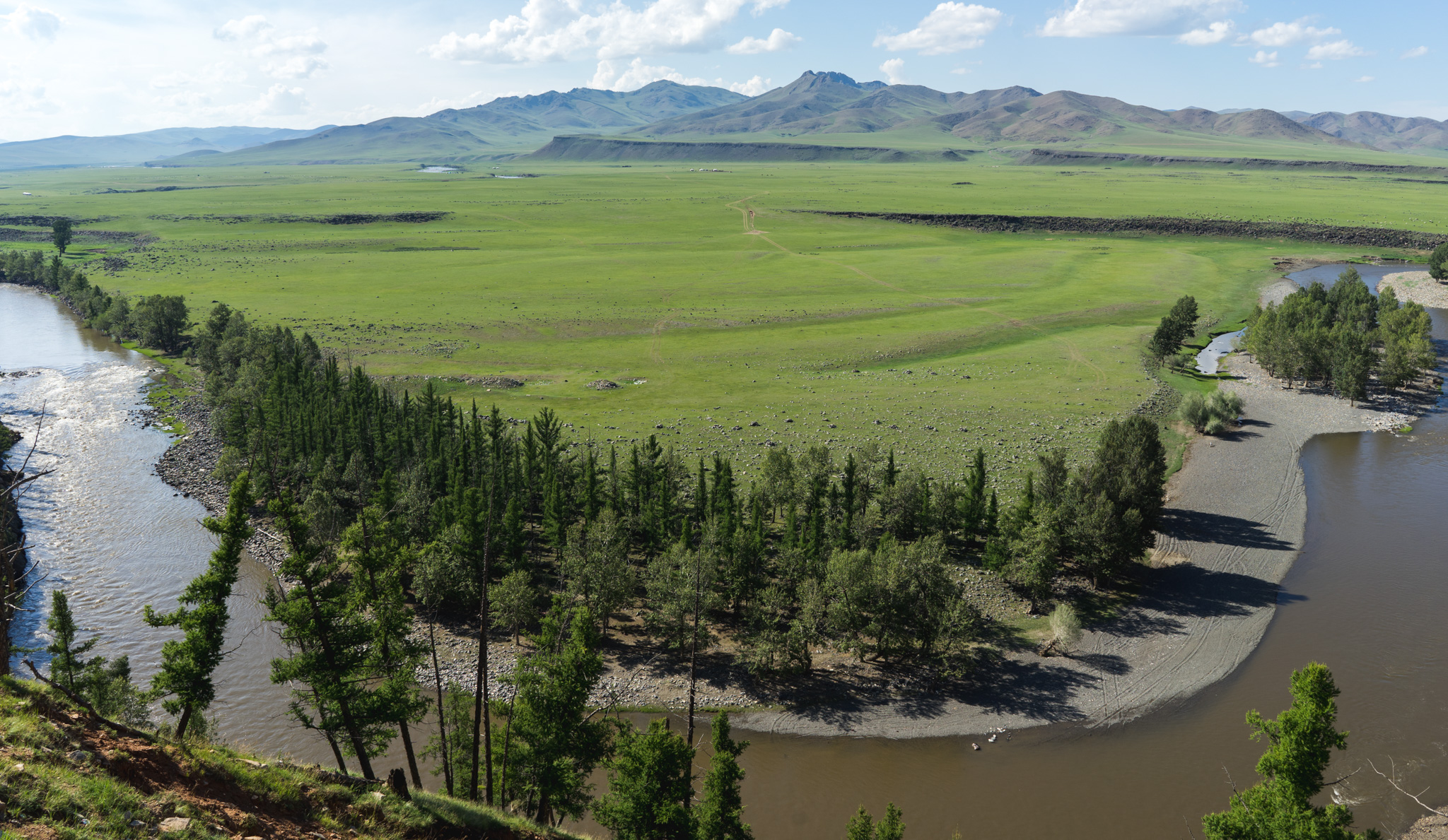 Orkhon Valley in Central Mongolia
