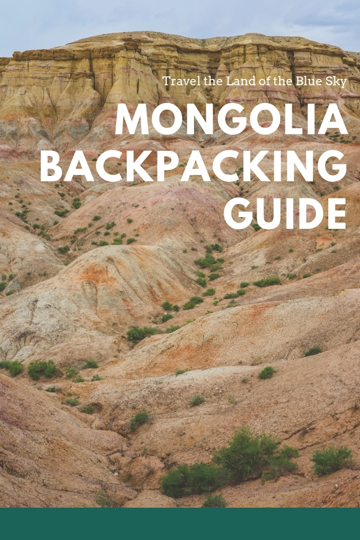 Mongolia Backpacking Pin