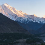 Rakaposhi (7,788 m) looming over the Hunza Valley at sunset