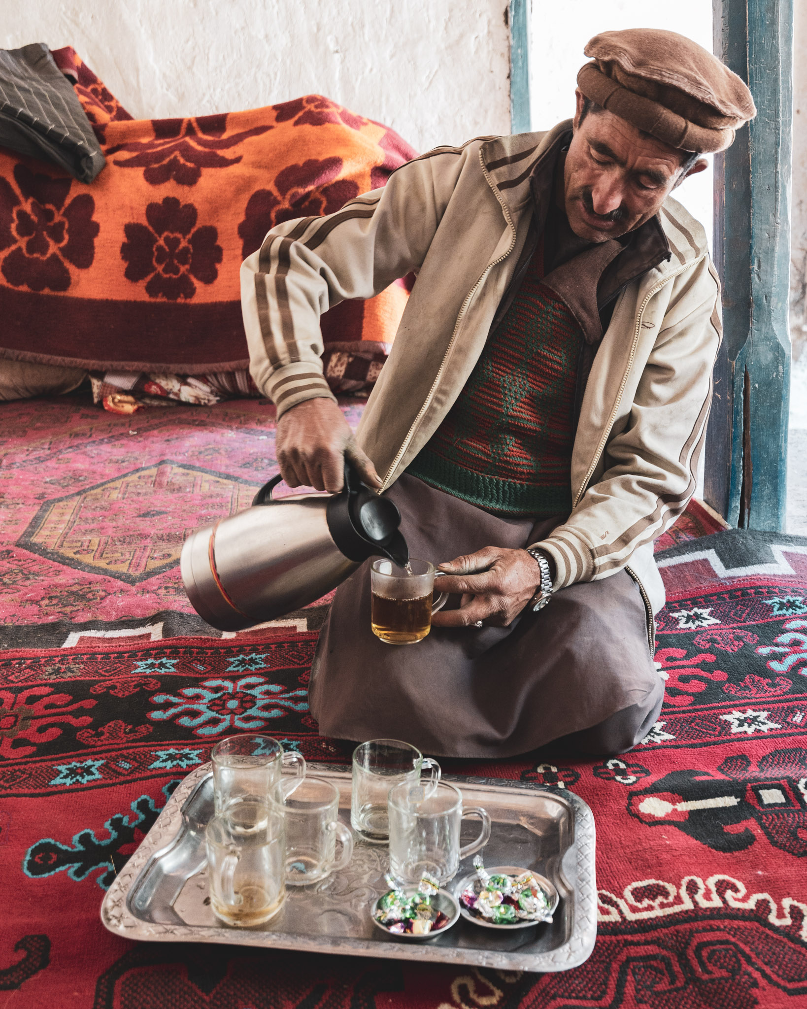 Drinking chai in Afghanistan