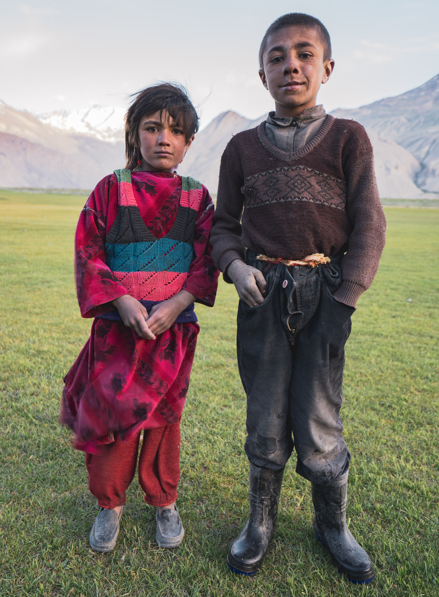 Wakhi children in Sarhad-e-Broghil