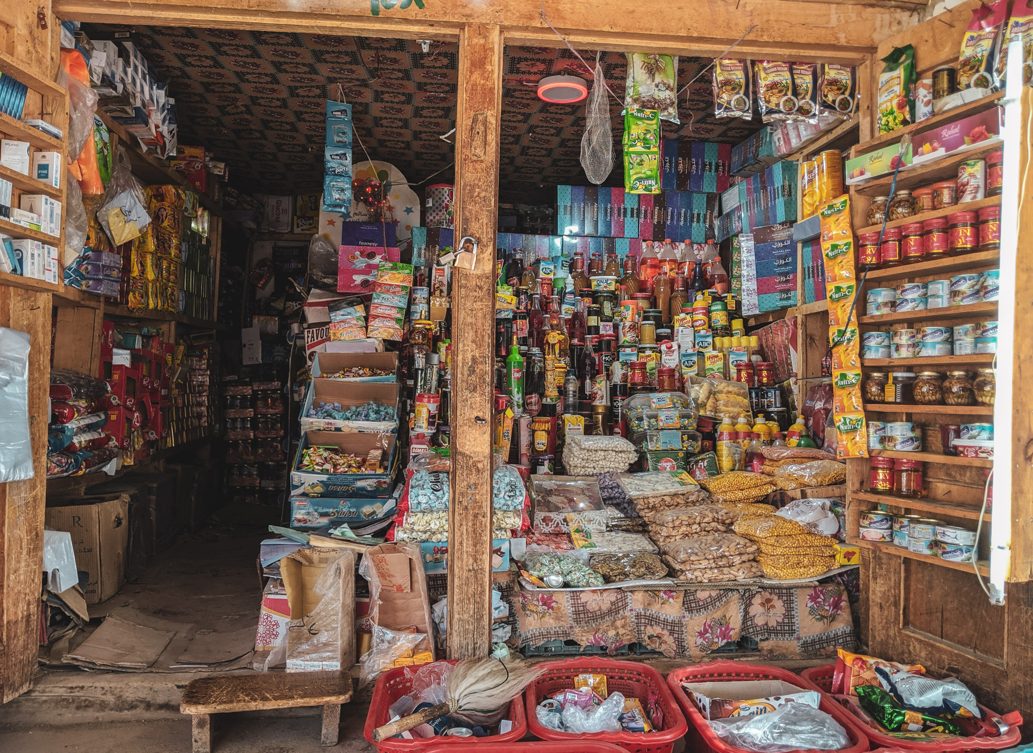 Typical food shop in the Ishkashim bazaar