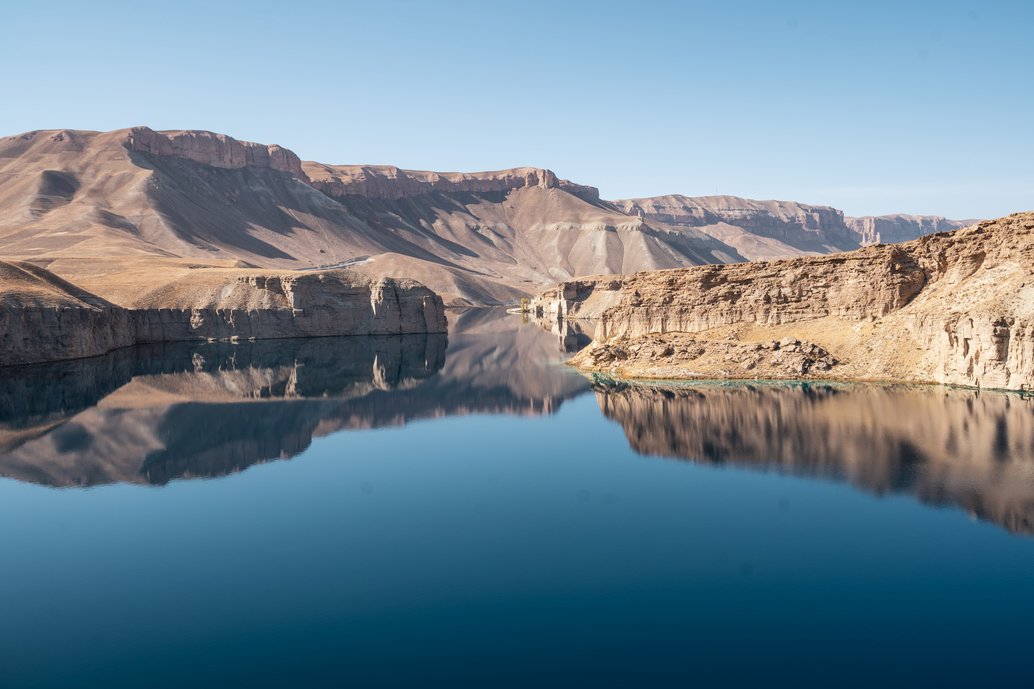 One of the insanely blue lakes in Band-e-Amir National Park