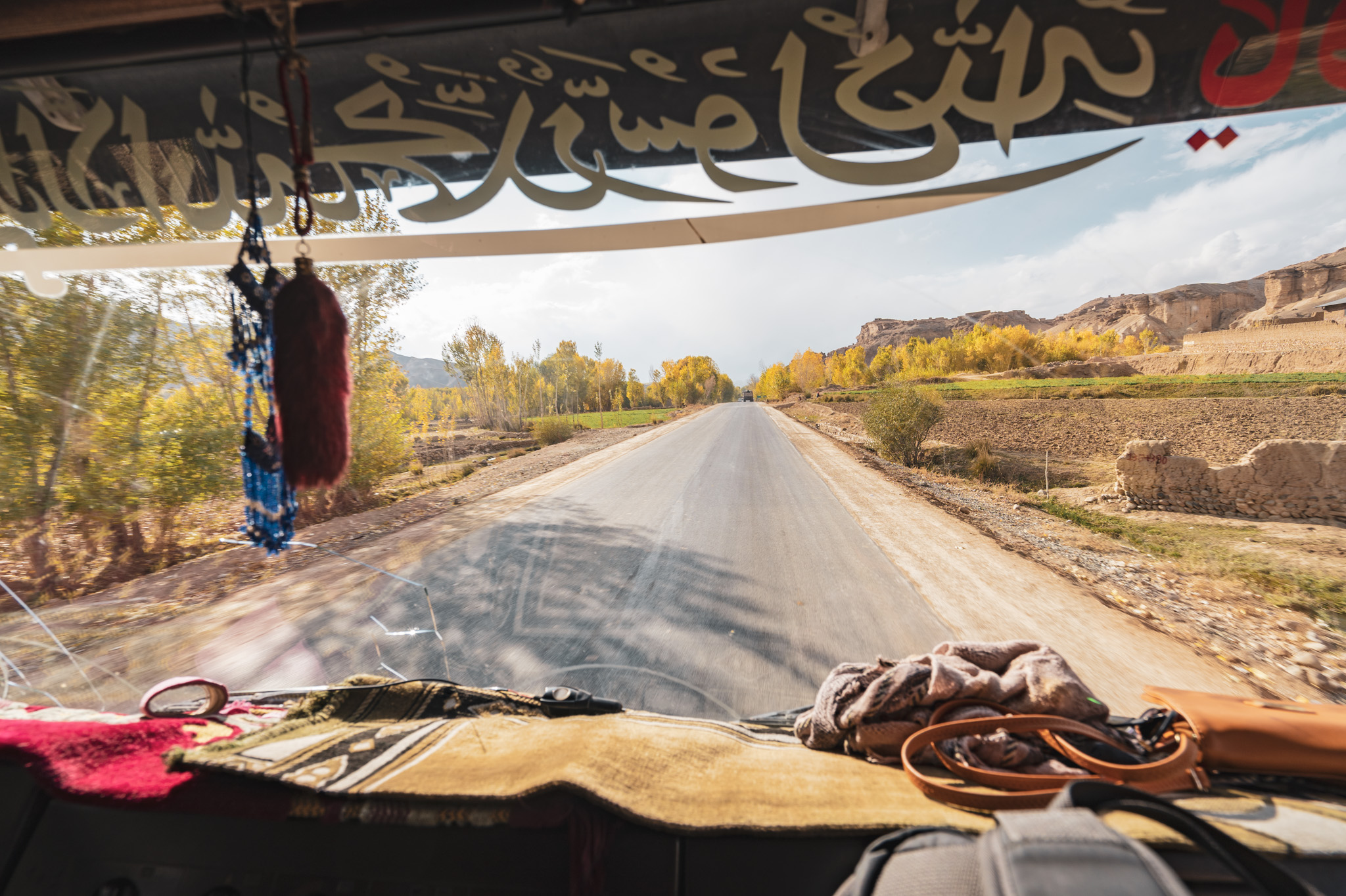 Hitchhiking with a trucker in Bamiyan Province