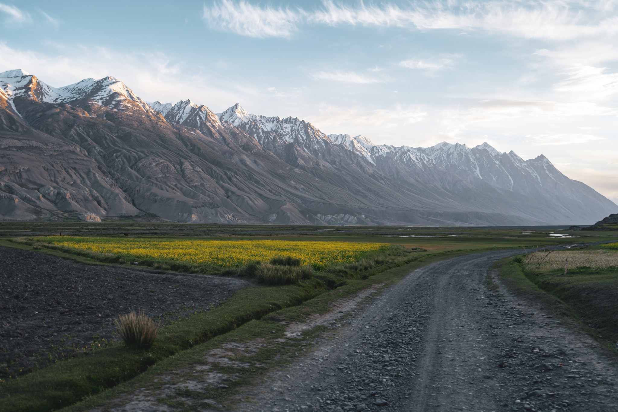 Sunset in the Wakhan Valley