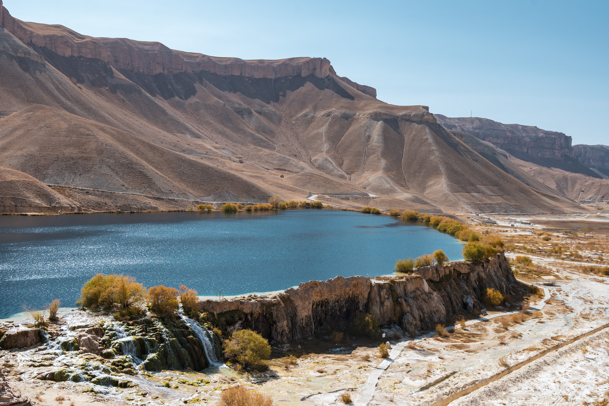 One of the blue lakes of Band-e-Amir National Park
