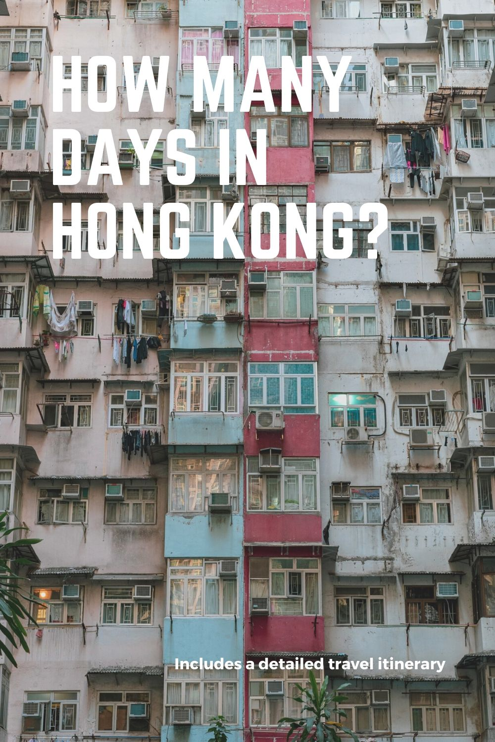 Colourful building in Hong Kong