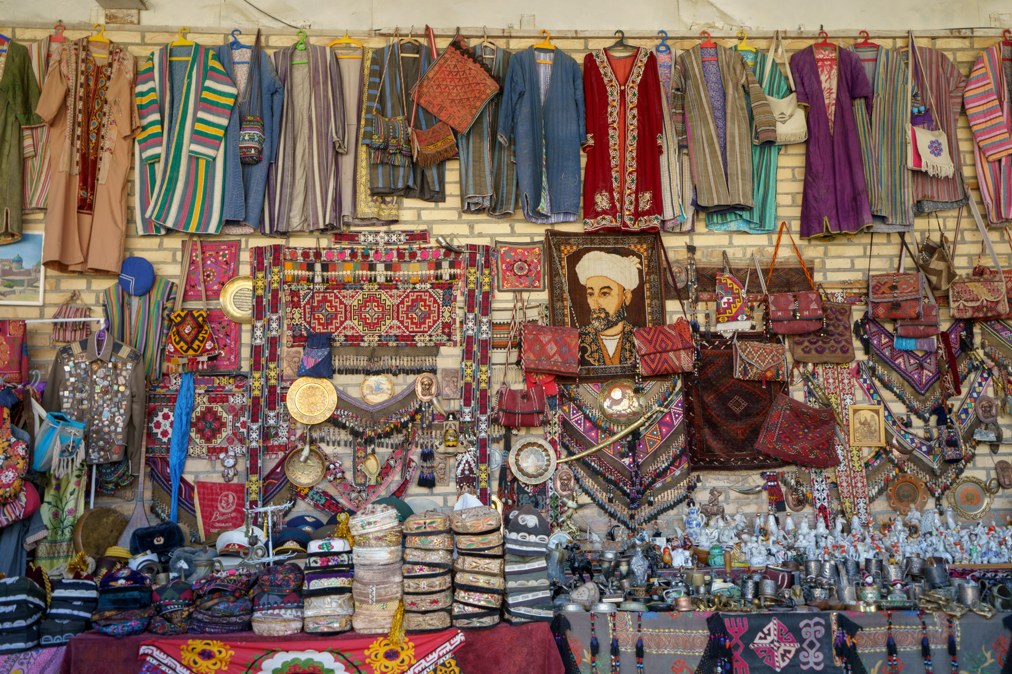 Uzbek souvenirs for sale in Bukhara