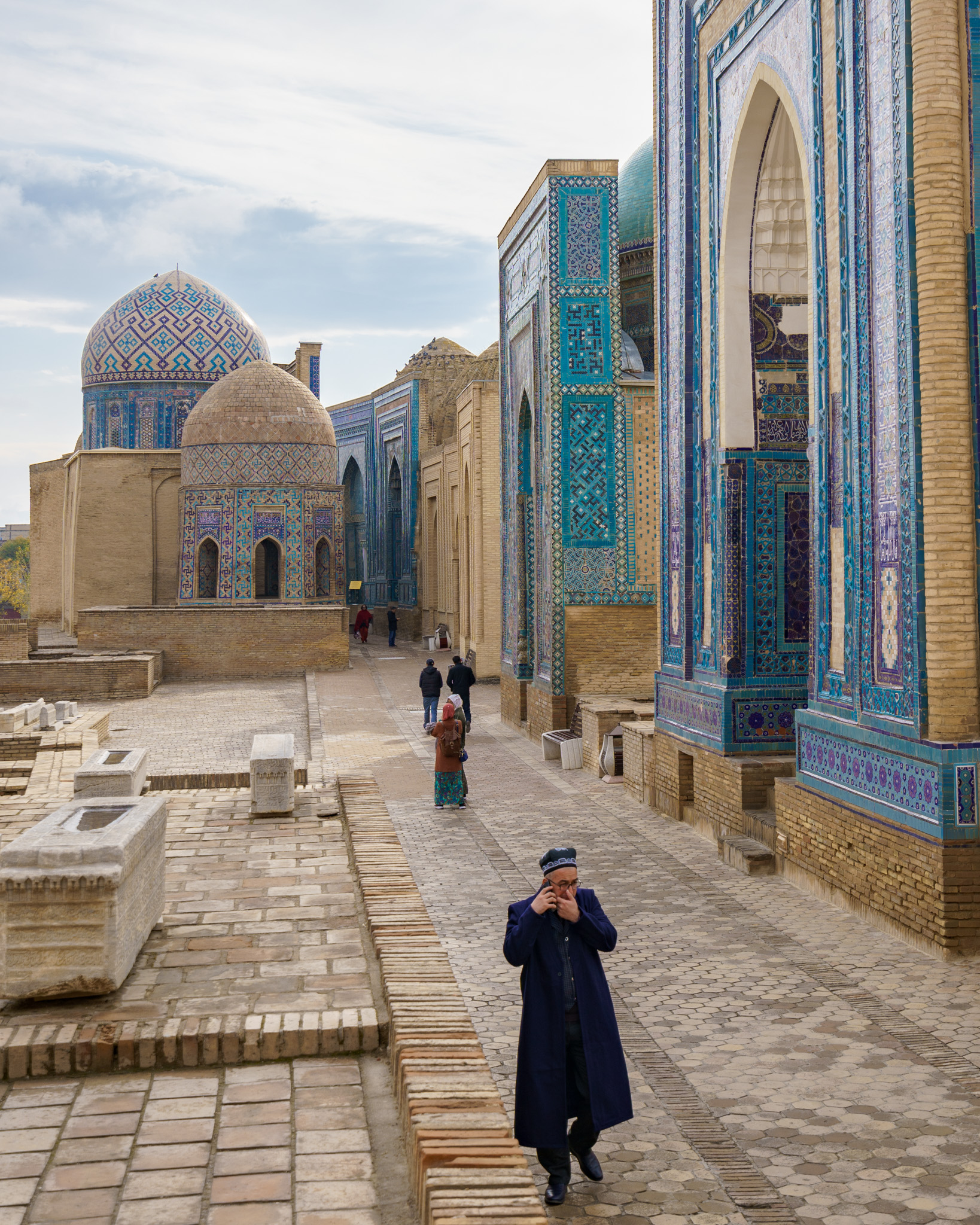 The Shah-i-Zinda necropolis in Samarkand